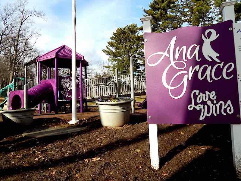 A playground was built at Elizabeth Park in Hartford in Ana's memory. (Arielle Levin Becker / CT Mirror)